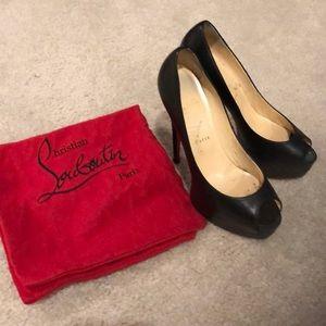Christian Louboutin Peep Toe hi heels